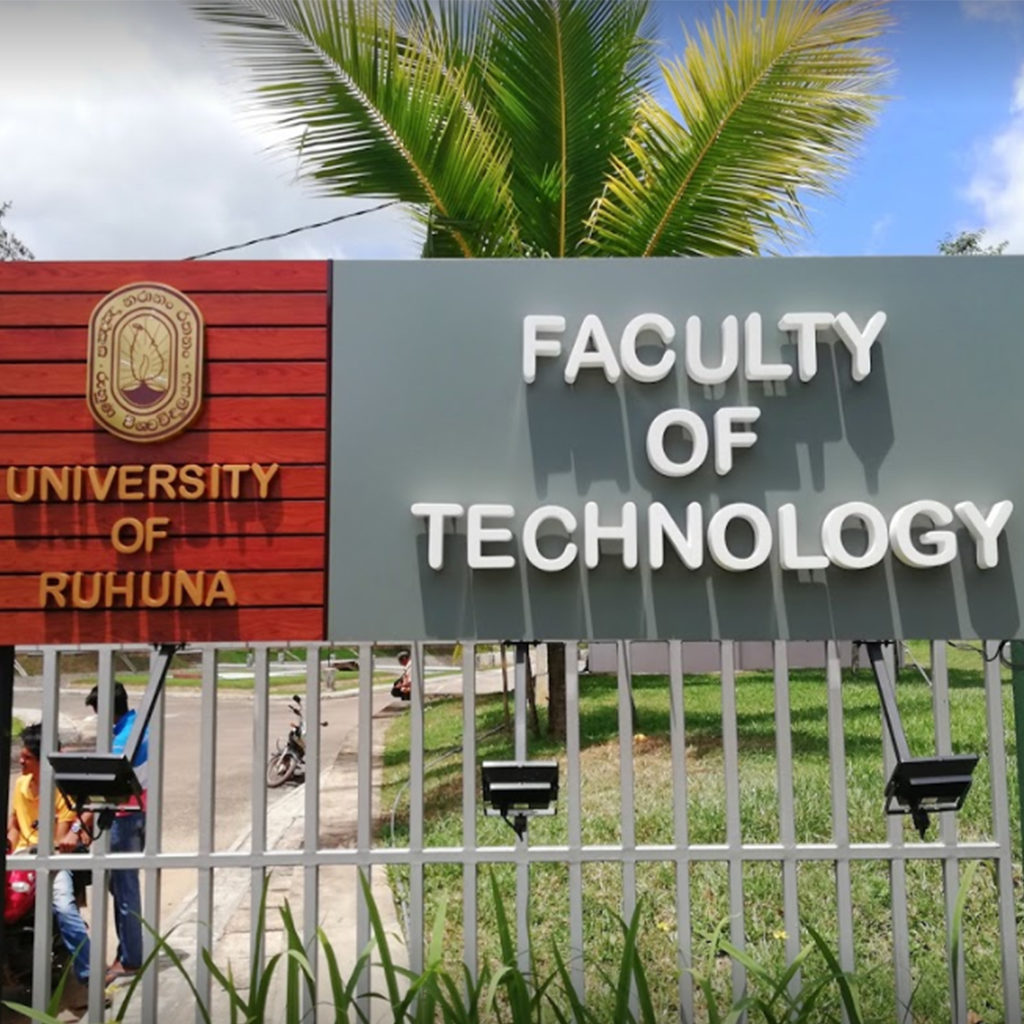 Faculty of technology university of ruhuna